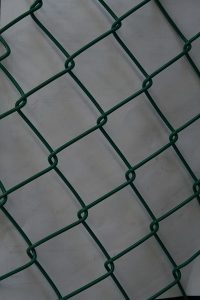 Green PVC coated Diamond Mesh