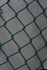 Green PVC coated Diamond Mesh